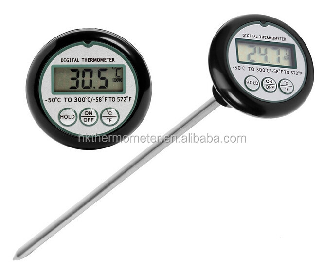 Electronic LCD Extra Long Probe Alcohol Thermometer