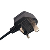 British Marketing BS1363 13A 250V UK Textile Power Cord For Steam Iron