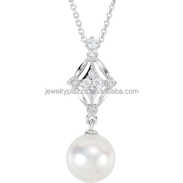 cultured detail diamond pearl by necklace jewellers yellow in gold louise pendant ann necklaces product