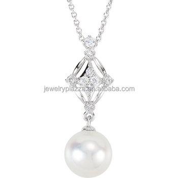 Single pearl diamond pendant with peg mount for oystercustom 925 single pearl diamond pendant with peg mount for oyster custom 925 silver aaa zircon findings aloadofball Image collections