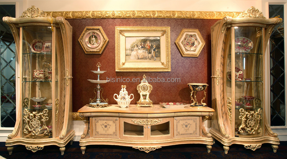 Luxury French Rococo Style Tv Stand Fantacy Vivid Hand
