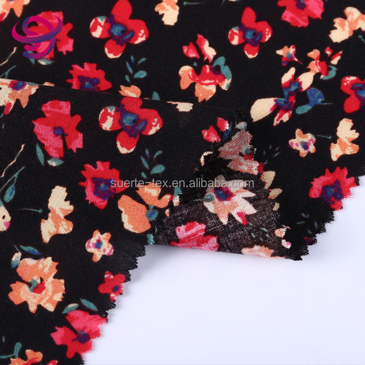 Shaoxing textile China supplier good quality viscose printed 100% rayon fabric