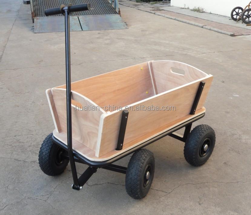 Ni os carro carro cuatro ruedas carro de madera para ni os for Carros de madera para jardin