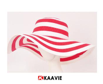 Wholesale Red White Stripe Wide Floppy Brim Women Straw Hat - Buy ... 818512a77df