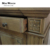 French provincial open double library natural oak bookcase with ladder