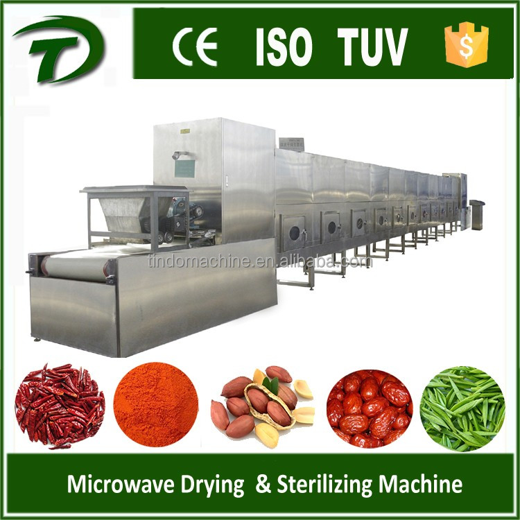 industrial microwave tunnel dryer