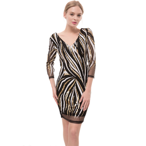 cd04d0873234 2017 New Sexy Short Tight Lace Dress Mini Luxury Club Satin Women Clothing  Sequined Party Evening