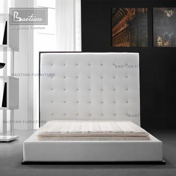 . Modern White Leather Upholstered Bed Design   Buy Modern Bed Upholstered  Bed Leather Bed Product on Alibaba com