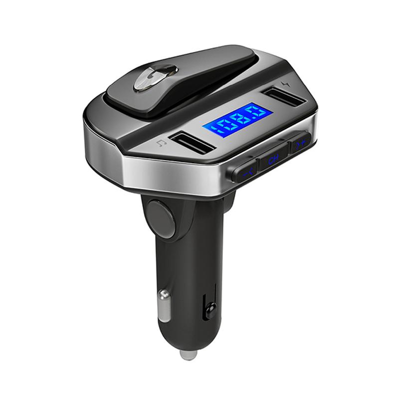 LUTU Mini Bluetooth FM Transmitter for Car Wireless inCar Radio