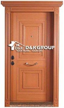 Safety Turkey Style Steel Wood Armoured Door