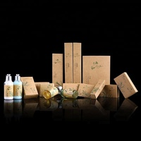 yiwu red pine hotel 5 star hotel wash facilities disposable supplies set kraft paper packaging