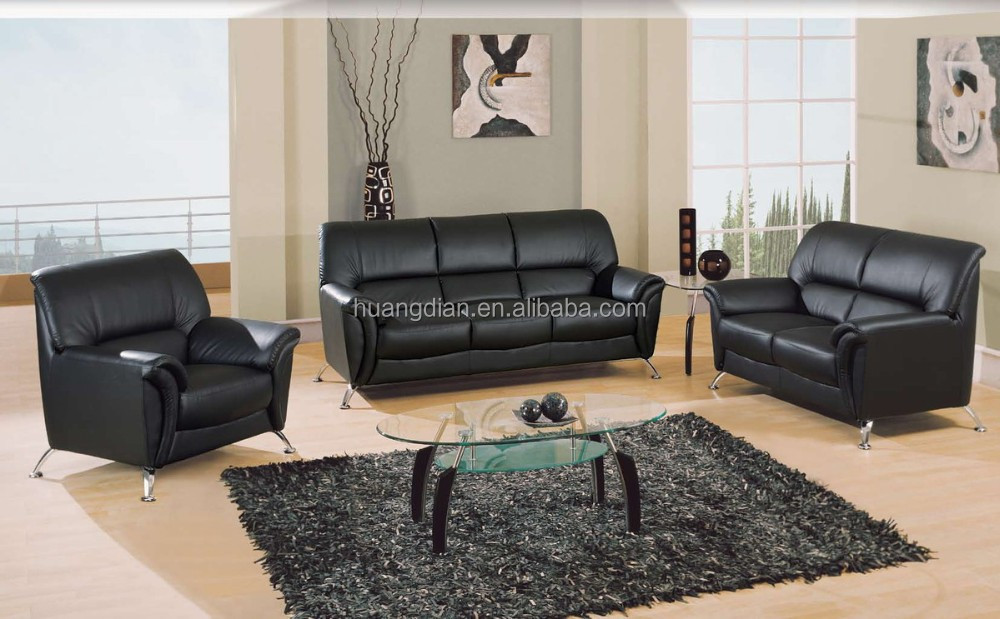 Modern Latest Design Leather Sofa Set 3 2 1 Seat Free Simple Ss4029 Customized