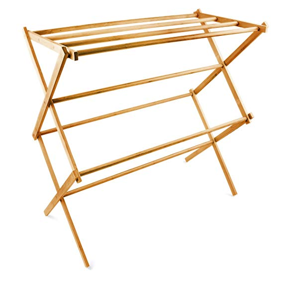 Foldable Bamboo Wooden Clothes Drying Rack 3