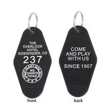 Overlook брелок для ключей в отеле черный красный брелок для ключей аксессуары для фильма ужасов блестящие украшения Оптовая Продажа подарок д...(Китай)