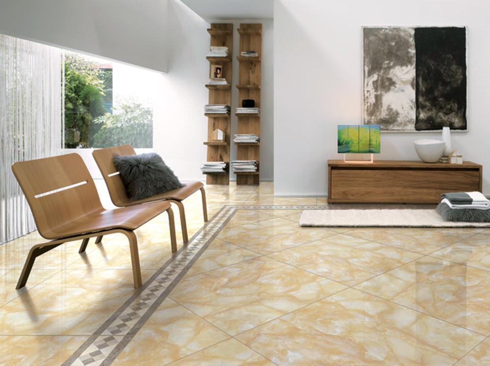 New Model Flooring Tile Off White Color Beige Ceramic Floor Full Polished Glazed Porcelain