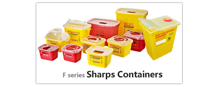 4.6L Wall Mounted Medical Sharps Container For Used Needles in School and Hospital