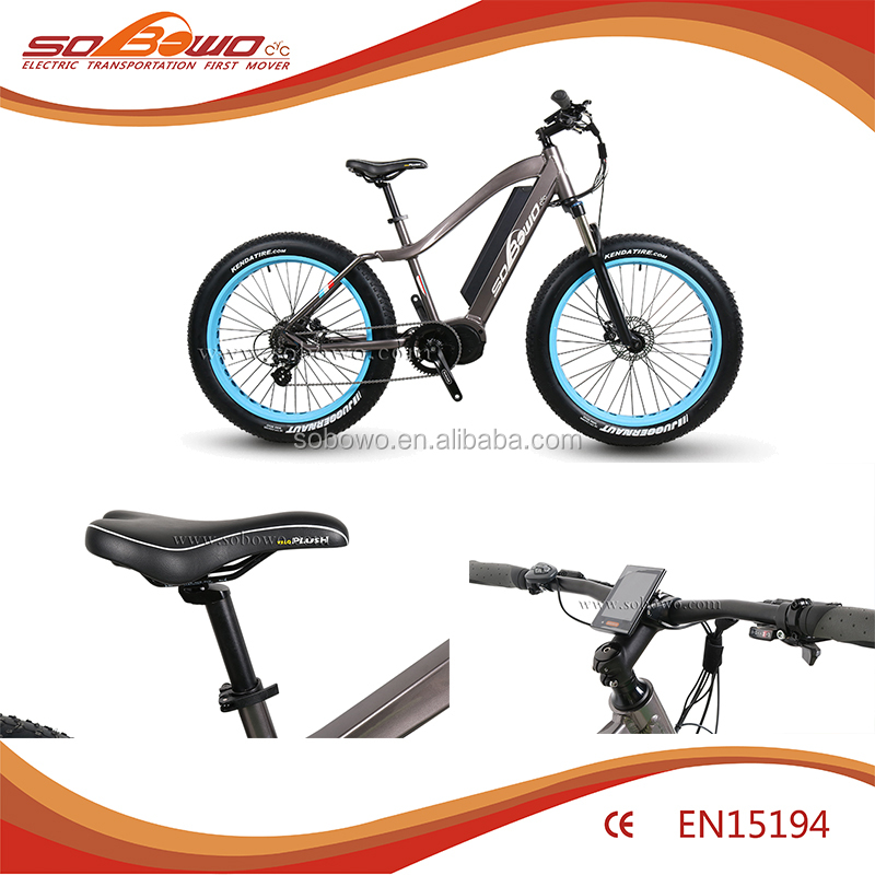 Fat tire electric scooter mountain bike accessories mid 1000w drive electric bike