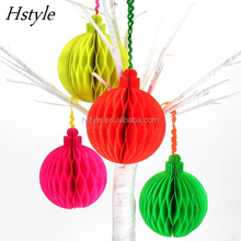 Neon Paper Honeycomb Ball Decorations SD501
