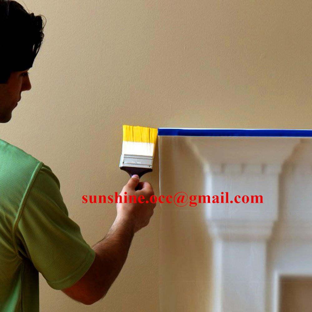 paint brush protective masking film