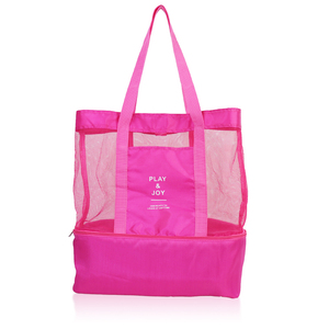 sport insulated cooler mesh beach tote bag