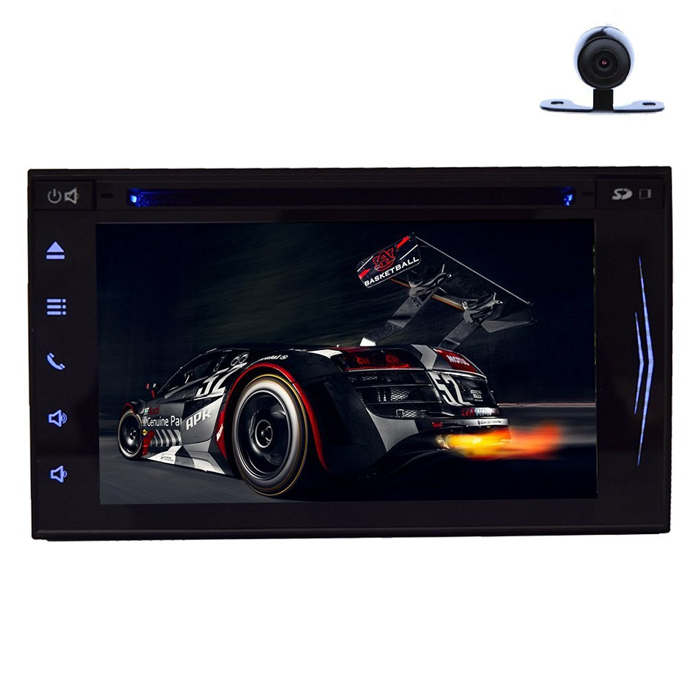 Back Camera Mp3 Mp4 included! Android 4.4.4 GPS Double 2 Din Car Radio Touch Screen DVD Player Universal 2 CD DVD DIN Car Video Stereo AM FM WIFI GPS Bluetooth FM/AM CD DVD Auto Radio