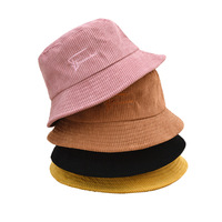 Small Order Custom Fitted Corduroy Bucket Hat