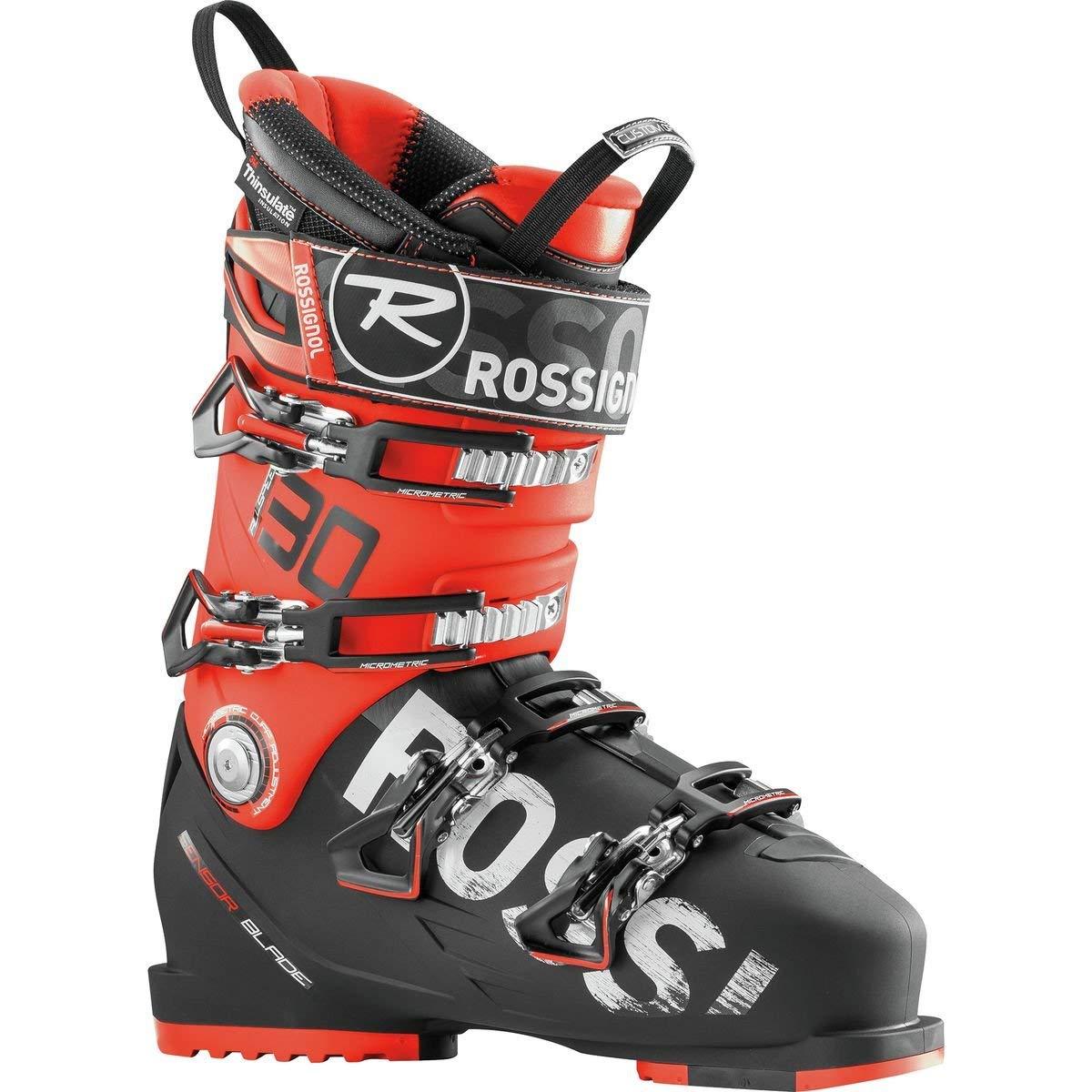 61d9812632 Get Quotations · Rossignol Allspeed 130 Ski Boots Black Red 25.5