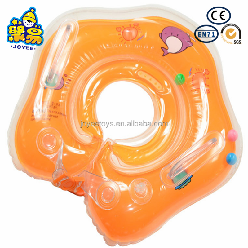 Swimming Pool & Accessories Dependable Safety Baby Neck Float Swimming Newborn Baby Swimming Neck Ring With Pump Gift Mattress Cartoon Pool Swim Ring For 0-24 Months Quality And Quantity Assured
