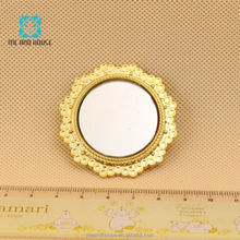 1:12 scale miniatures metal mirror mini Cosmetic mirror doll house toy