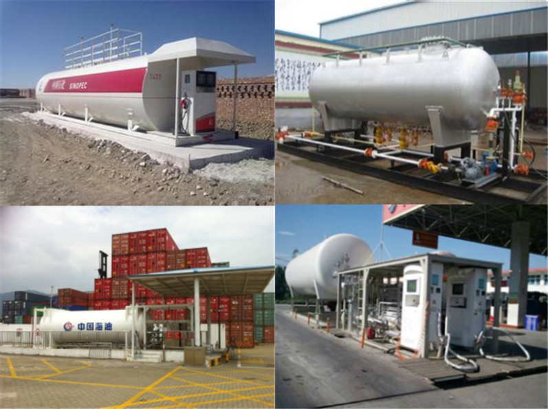 10ton Lpg Portable Gas Station 25cbm Lpg Filling Plant Gas