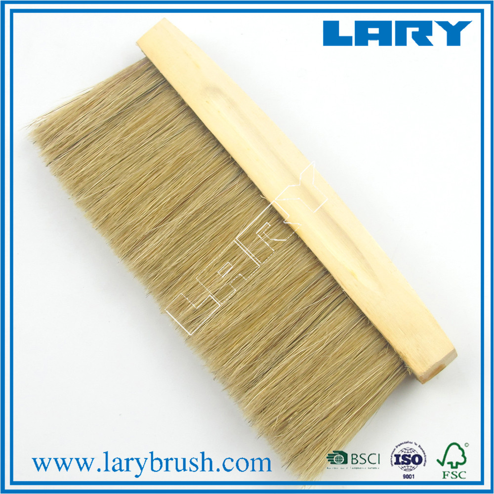 LARY top class natural bristle wooden handle dust brush for cleaning