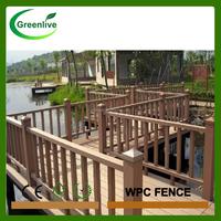 2016 new price waterproof garden fence wooden composite