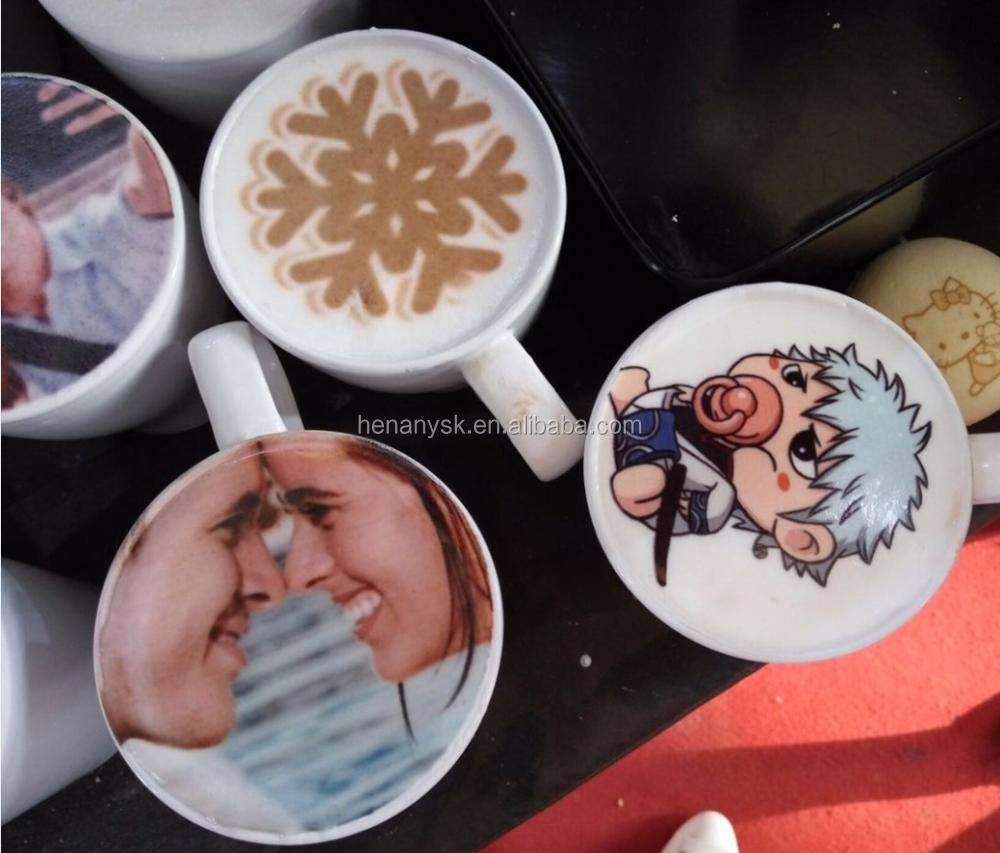 1 Cup Cappuccino 3d Let\'s Edible Cake Selfie Latte Art Printing Machine Coffee Printer Face Making Machine Price