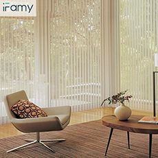 89mm polyester heat resistant vertical blinds curtains