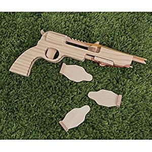 Wooden Toy, rubber band gun, elastic band gun, toy gun