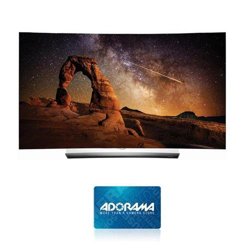"""LG Electronics OLED55C6 55"""" Class 4K UHD Curved Smart OLED TV, 3D Glasses Included, Wi-Fi - With $300 Adorama Gift Card"""
