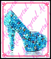 Aidocrystal new design studded diamond fancy shoes ladies high heels for nightclub fashion show