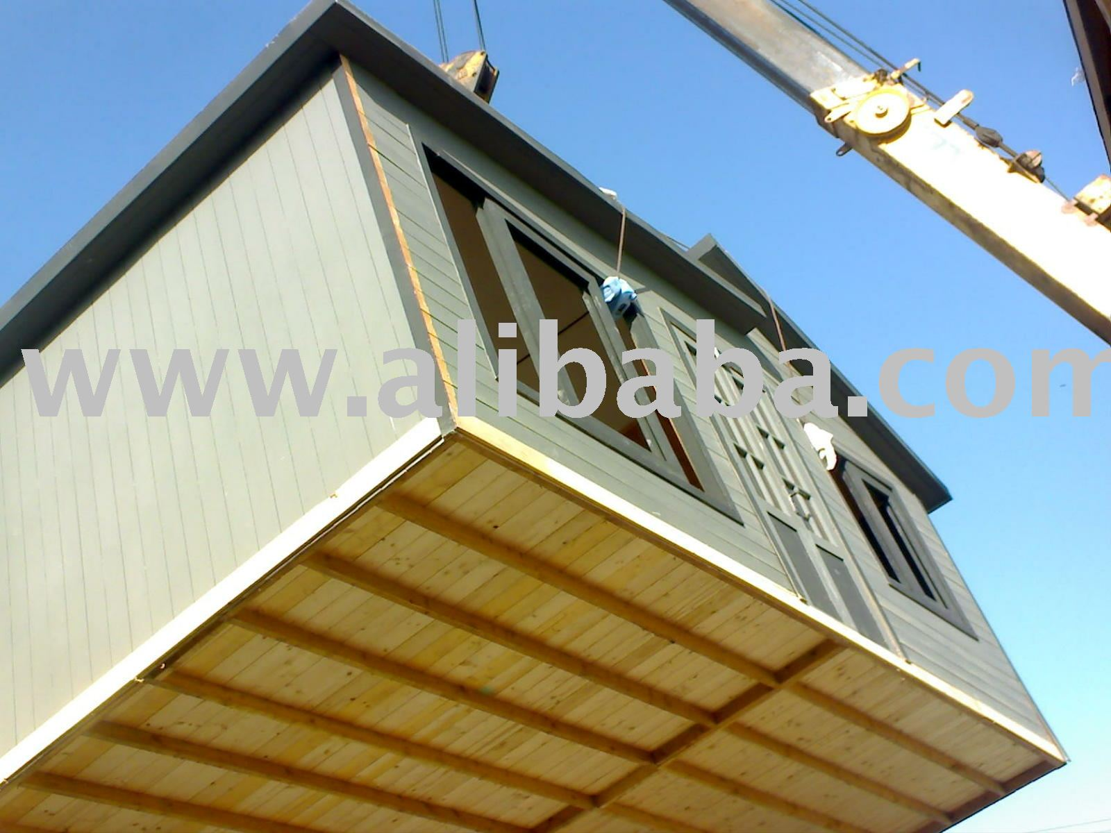 Prefabbricato in legno e telaio in acciaio casa e uffici for Case in legno e acciaio