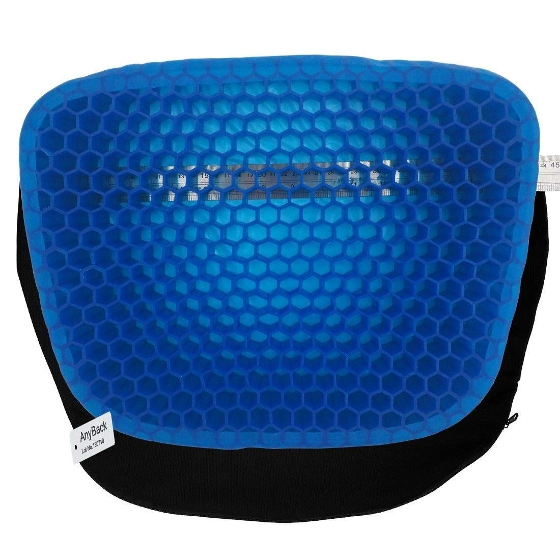 AnyBack Sitter Chair Cushion As Seen TV, Seat Cushion for Office Wheelchair Car, Gel Support Sponge Massager Patio Seating Chair Cushions for Pressure Relief with 1 Non Clip Zipper Cover
