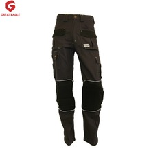 Hot selling winter black industrial cargo work pants with side pockets- T13