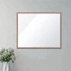 Simple design black framed unbreakable silver mirror
