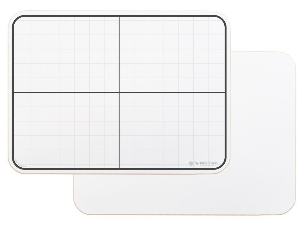 OptiMA Lapboard with XY Grid 9x12 Student Dry Erase (15 Pack)