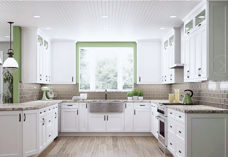Thermofoil Kitchen Cabinet Door High Gloss Vinyl Wrapped ...
