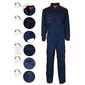 New 2019 latest design cotton waterproof china factory coverall workwear
