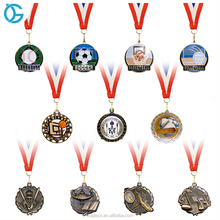 2018 New fashion cheap sport medal award ball medal medallion with ribbon