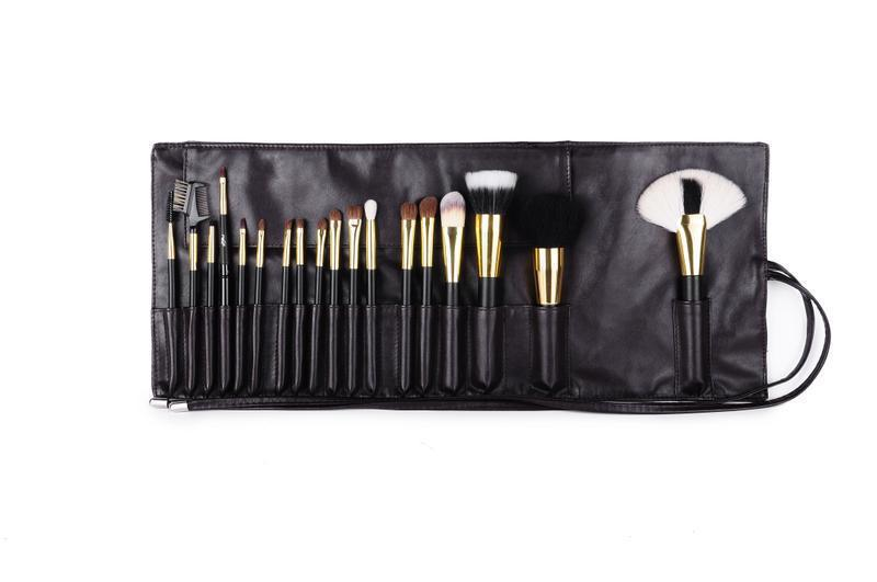 2015 Professional Limited Edition !!! Super Professional Beauty 18pcs Black gold Makeup Brush Set Upscale/maquiagem SH13