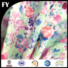 Factory custom new design high quality digital print silk cotton voile fabric