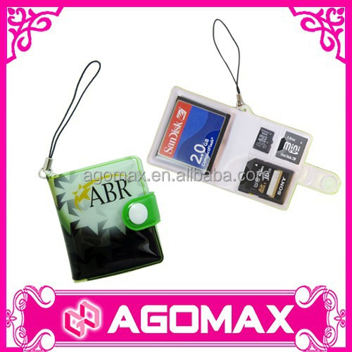 High quality corporate gift handy pvc Micro SD card organizer