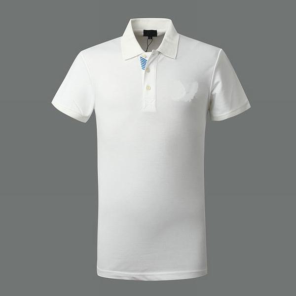 Cotton Plain White Color Polo T-shirt Stand Collar Polo ...