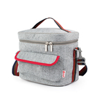 Yiwu Backpacker custom v cool cooler delivery bag with grey color
